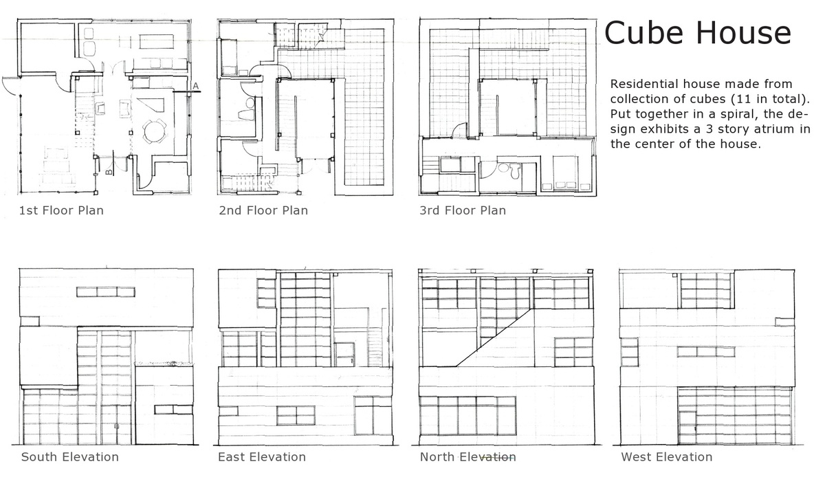 Cube house alexander trubin archinect Cube house plans