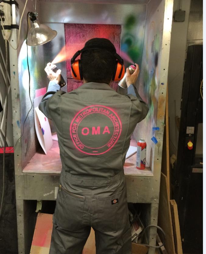 OMA model shop. Photo courtesy of OMA New York.