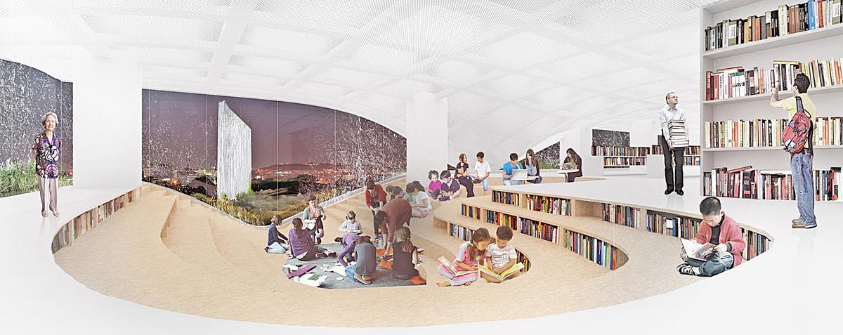 Library interior (Image: KAMJZ)