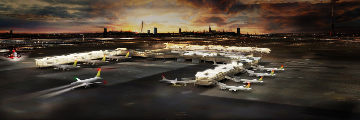 Riga Airport cloud system