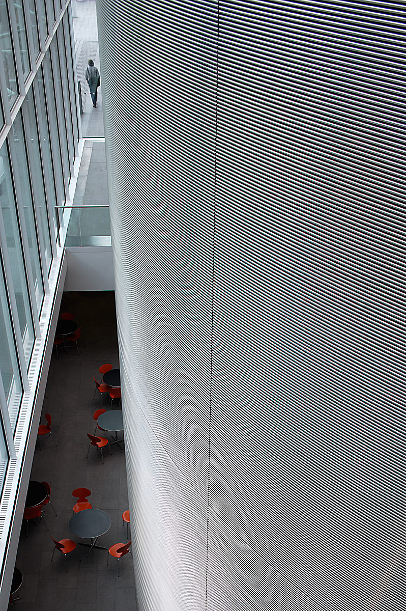 Imperial college business school by Sir Norman Foster, Kensington, London.