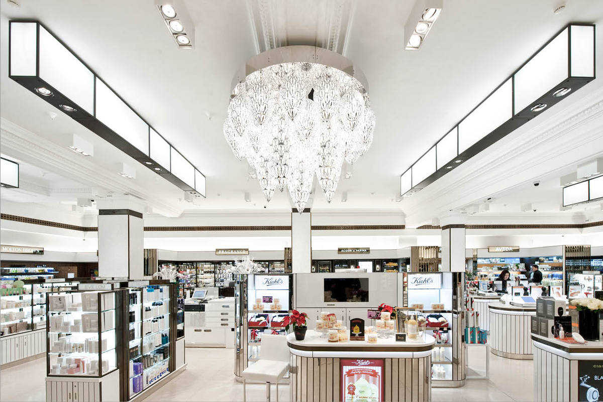 Harrods beauty apothecary ml studio inc archinect for Retail design companies london