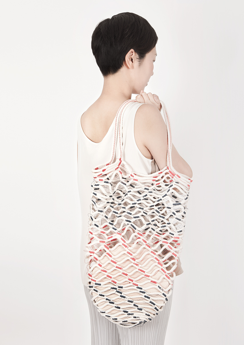 Net Bag, 2013. Photo by Brook&Lyn (The model is Airi Isoda of wrk-shp by the way - she and her husband were featured not too long ago in a Working out of the Box feature, too! Airi is friends with the photographer.)