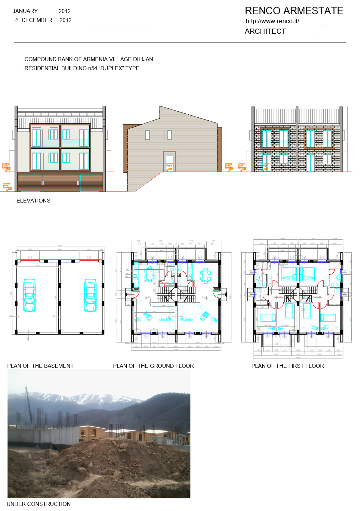 """RESIDENTIAL BUILDING n70 """"DUPLEX"""" TYPE"""