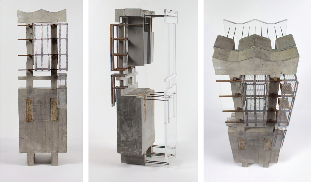 Sectional Models by Student Elizabeth Himmel, DSGN 6100. Image courtesy of Tulane School of Architecture.