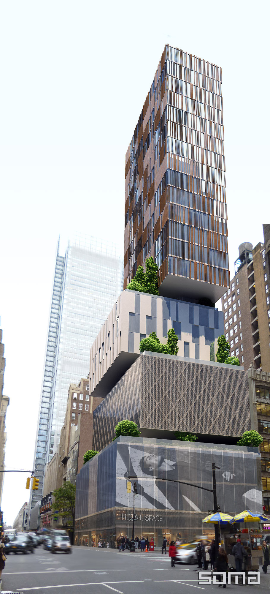 Dream hotel times square soma architects archinect for Design hotel 1690