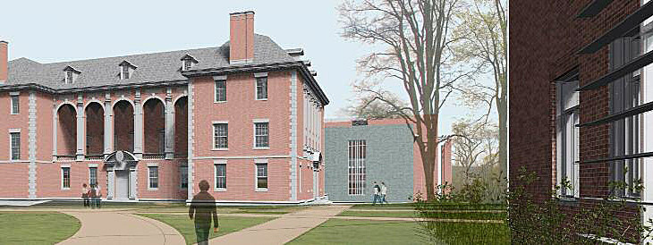 Revit image from new quadrangle.
