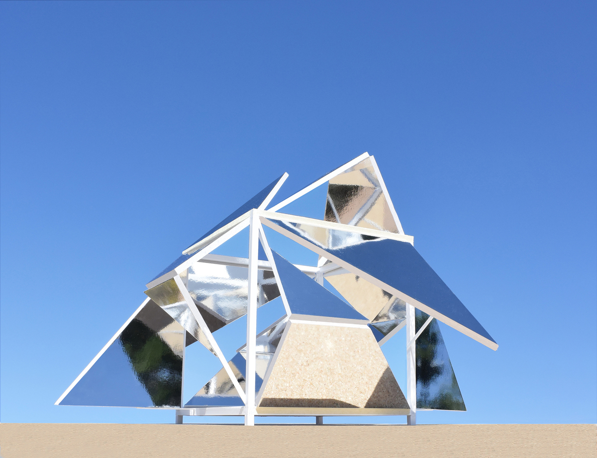 The folding mirrors pavilion a new kind of interactive for Architecture parametrique