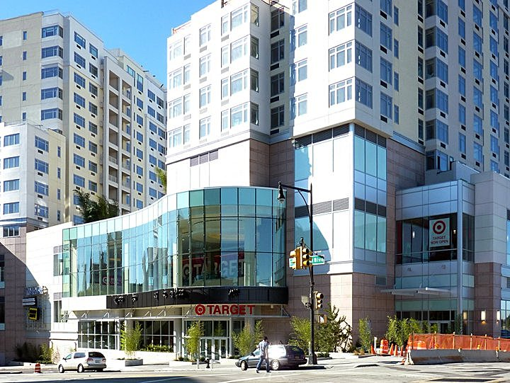 Luxury Condominiums Above Retail and Residential Entrances