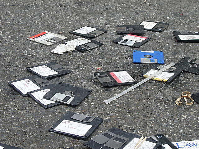 Floppy Disks In The Street by Jonathan Harford