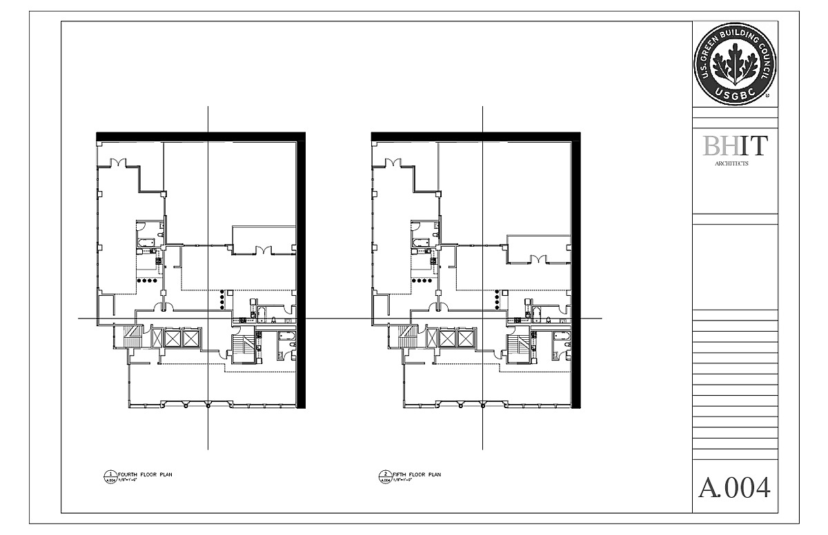 Fourth and Fifth Floor Plans