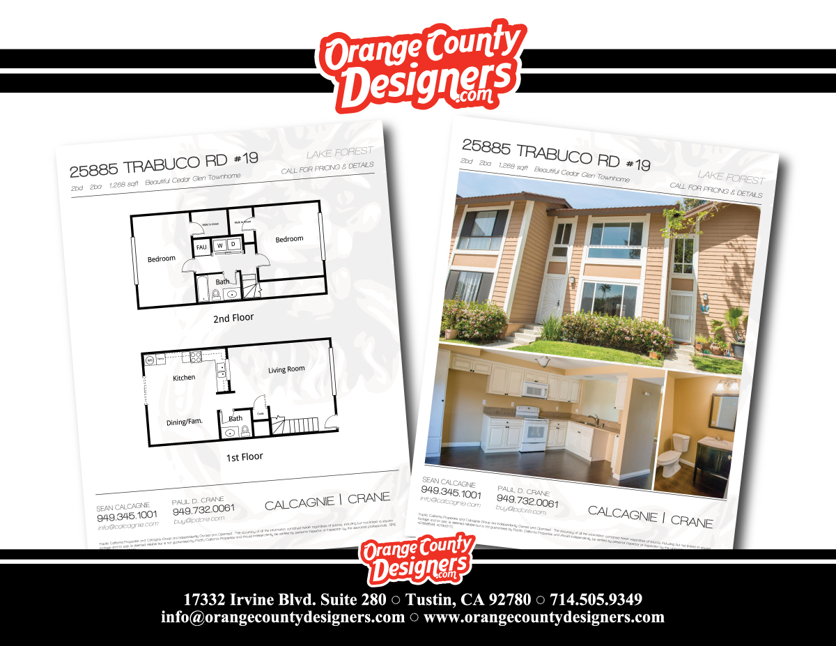 real estate flyers zoran grujevski archinect listing flyers for irvine residential real estate