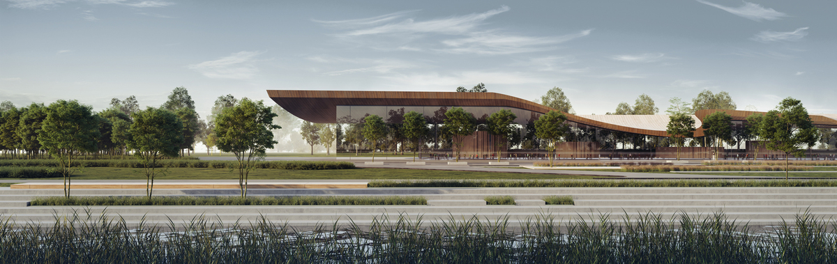 001 – COVER IMAGE | HIGH-SPEED TRAIN STATION - Image Courtesy of ONZ Architects & MDesign