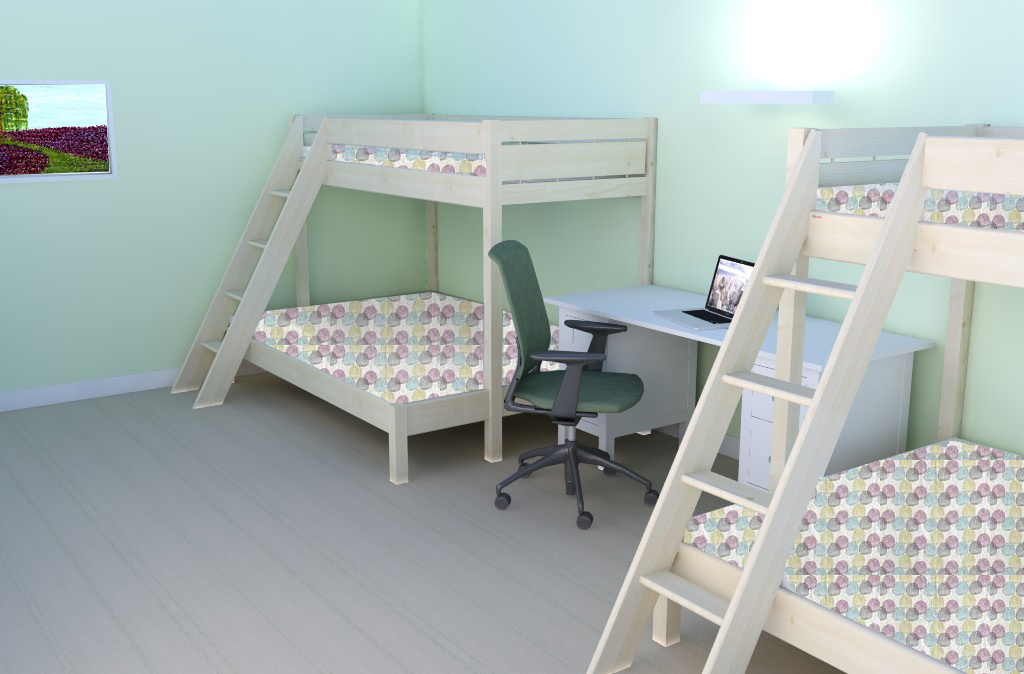 bedroom type 3 accommodates a familial structure of 6
