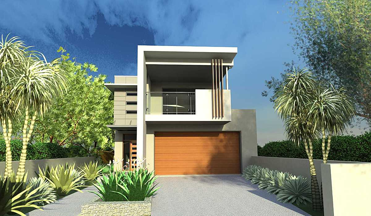 Narrow lot house designs blueprint designs archinect for Modern house plans for narrow lots
