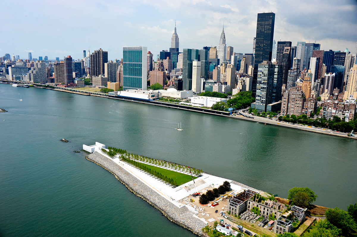 Four Freedoms Park, New York, NY by Louis Kahn (Photo: Paul Warchol)