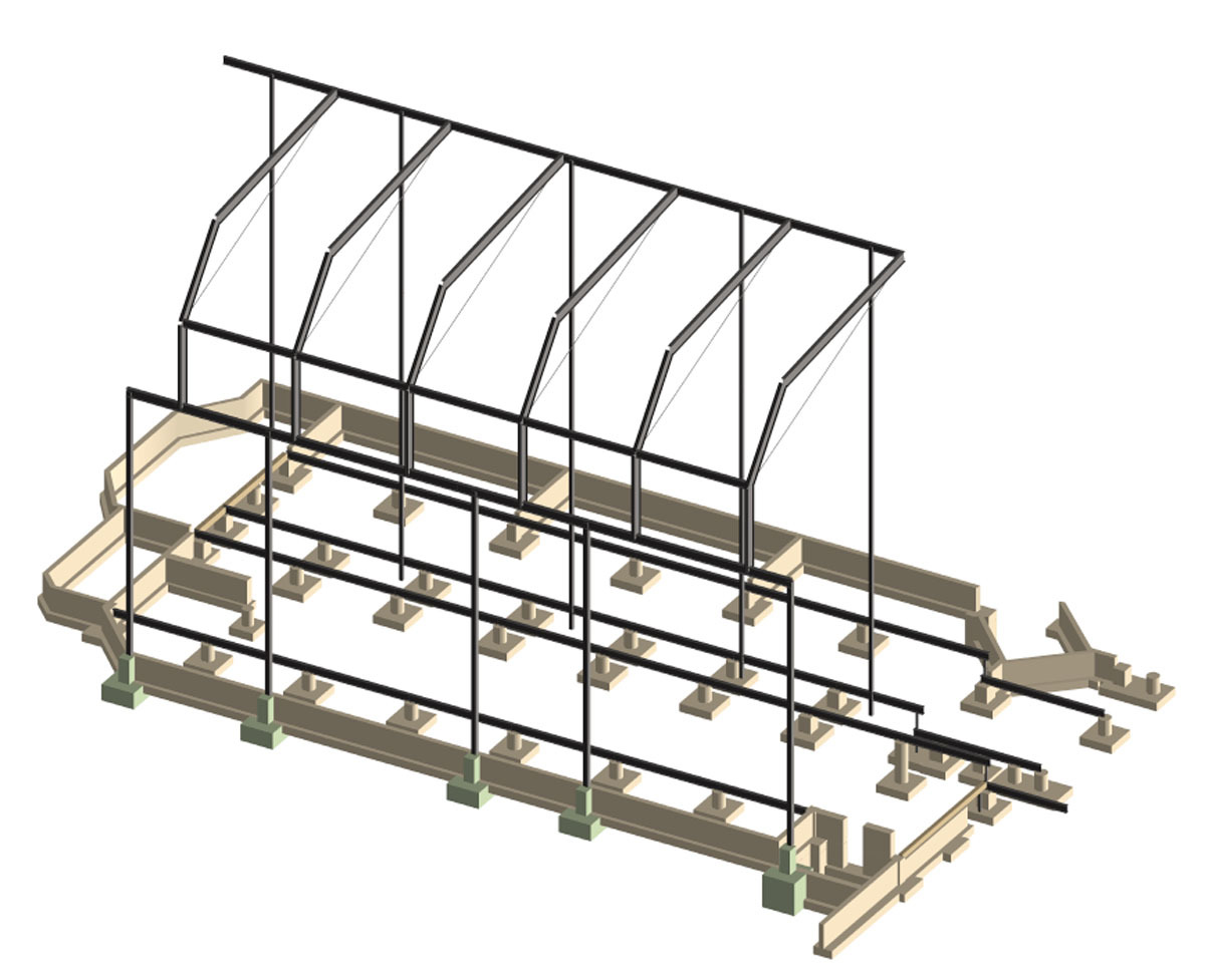 Grand Hotel - West Wing Addition Structural Model (Image: N. Stanton)