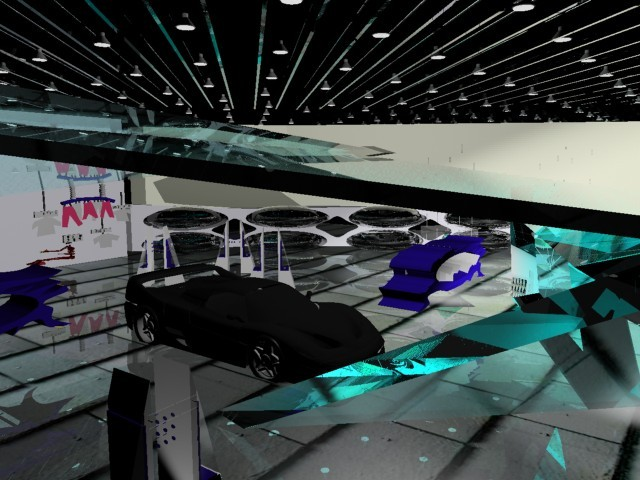 Car Exhibits with piezo electric display cages
