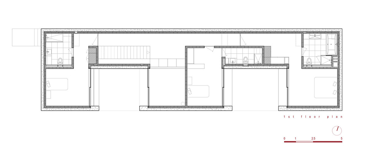 First floor plan (Image: Phyd Arquitecture)