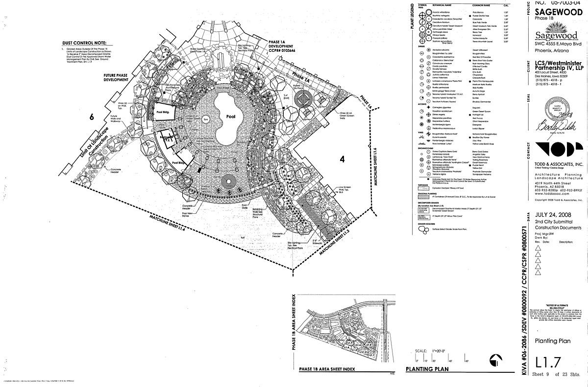 Planting plan of community pool