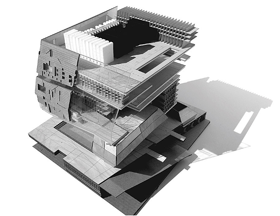 sectional model view