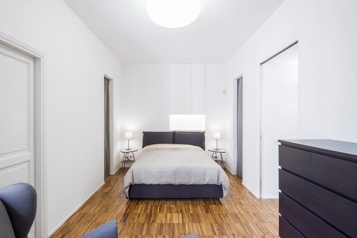 Lpc private apartment cristianavannini arc archinect - Camera da letto con parquet ...