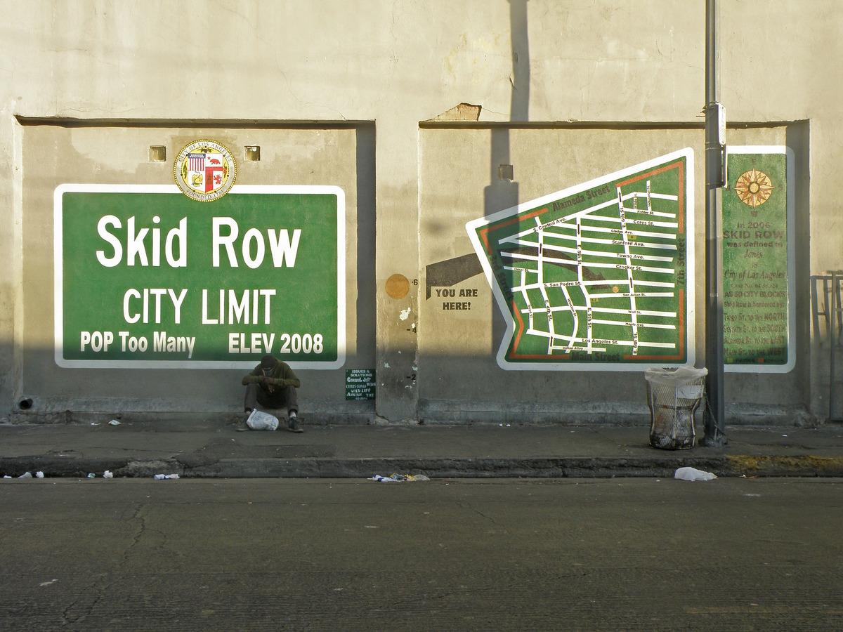Skid Row, Los Angeles. Image via flickr/Laurie Avocado.