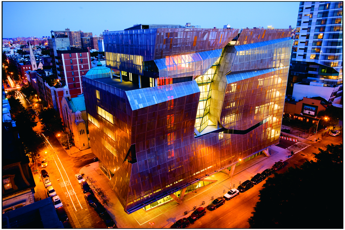 Cooper Union's 41 Cooper Square, designed by Morphosis Architects. Image courtesy of Cooper Union.