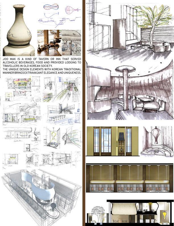 Restaurant design school project eric kim archinect