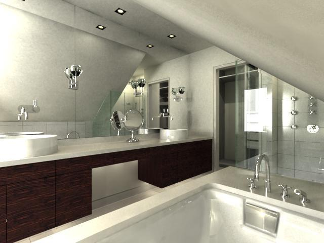 Master Bathroom Computer Rendering