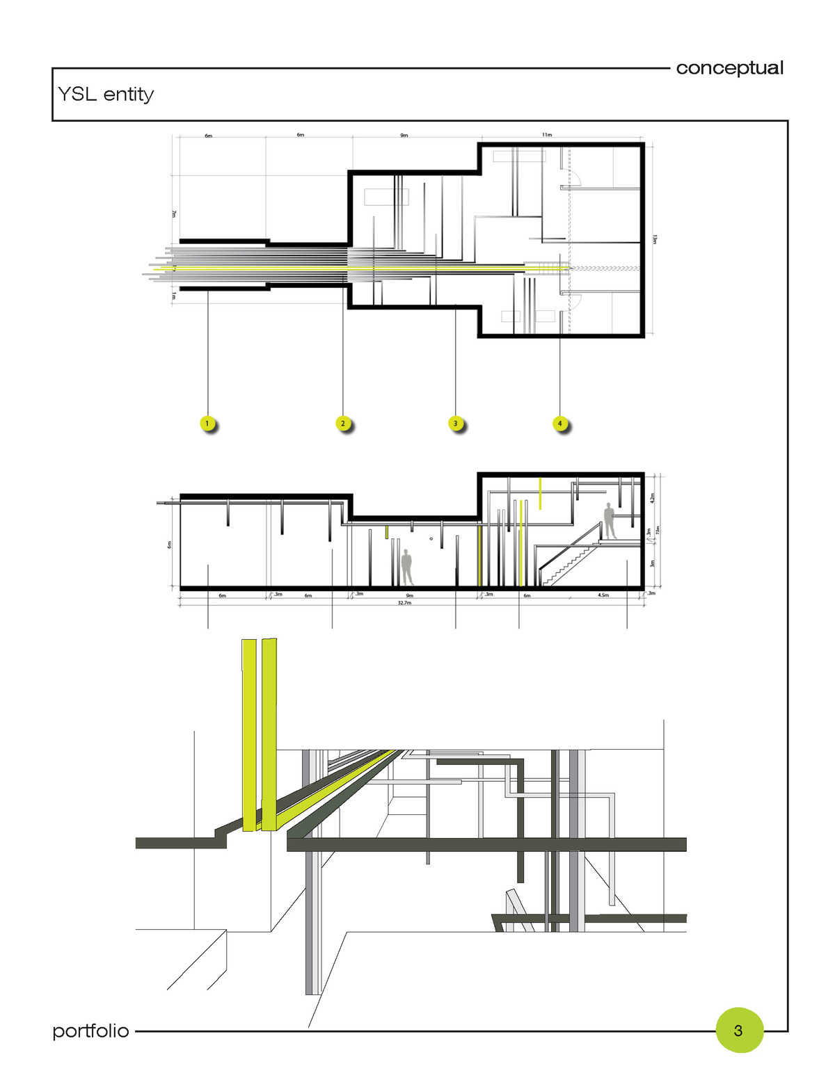 + interior; 2D and 3D conceptual design