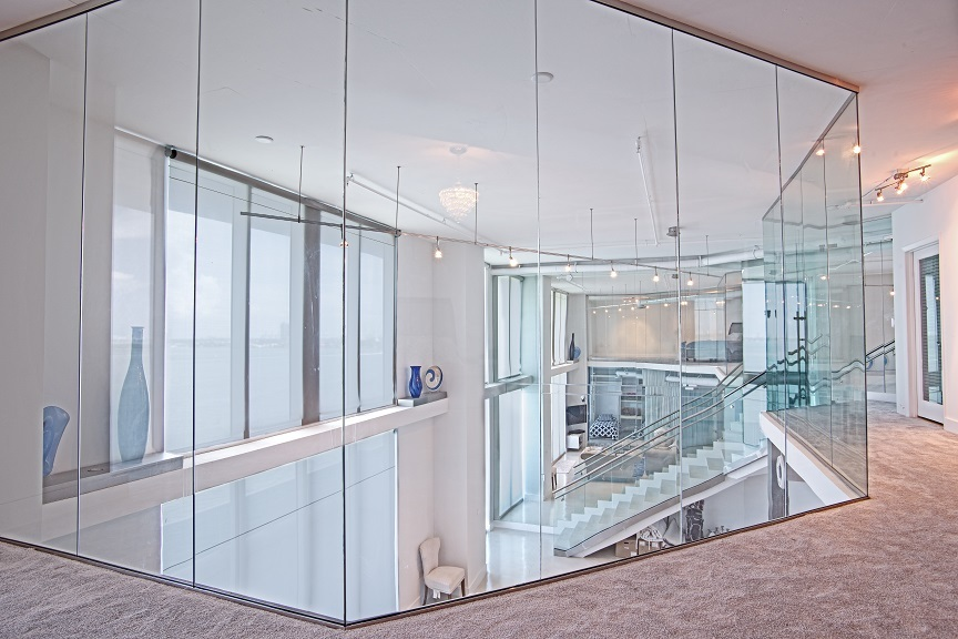 Residential Glass Walls Railings Bella Stairs Llc