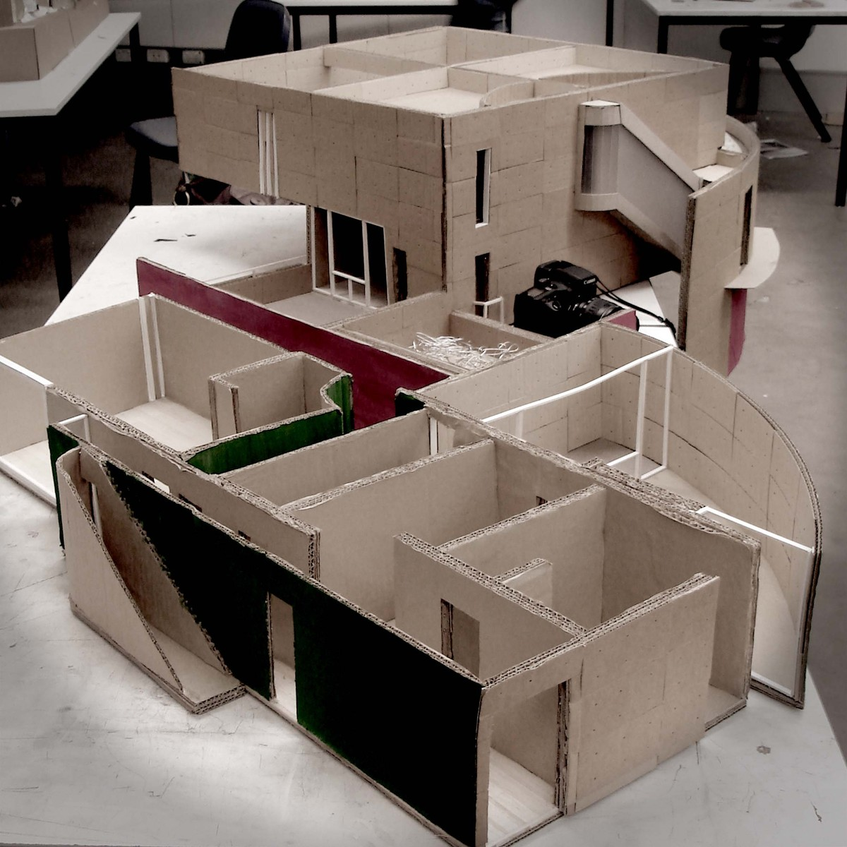 Cardboard house for school project