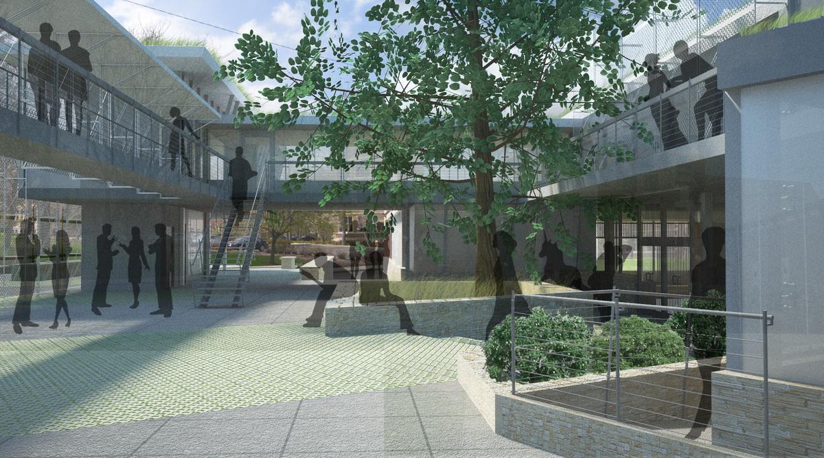 Exterior courtyard