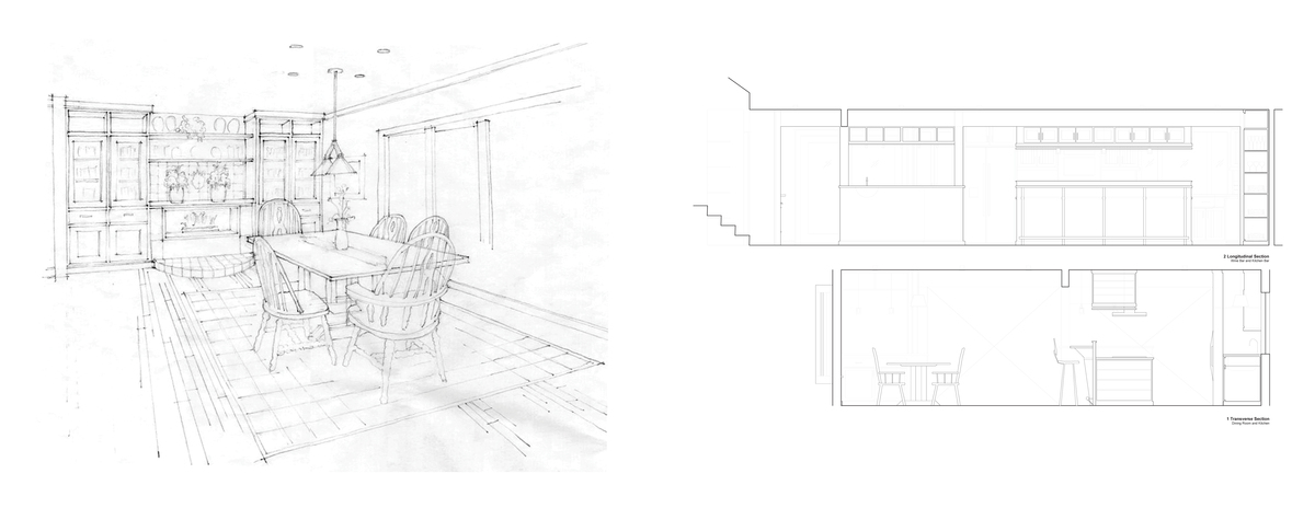 Leavenworth House Remodel Kitchen Elevations