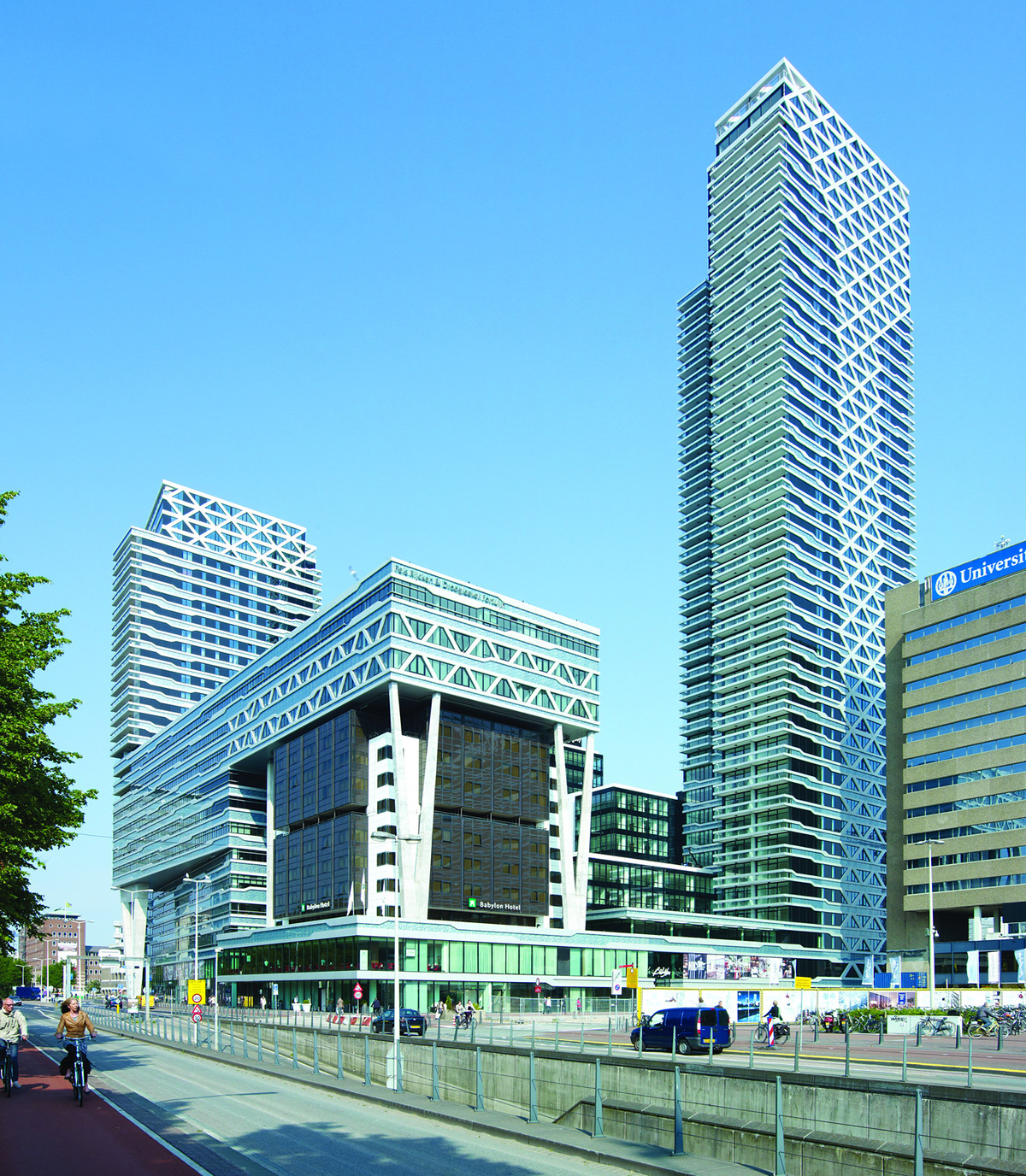 Finalist - Europe: New Babylon Tower, The Hague, The Netherlands by MVSA Architects © MVSA Architects