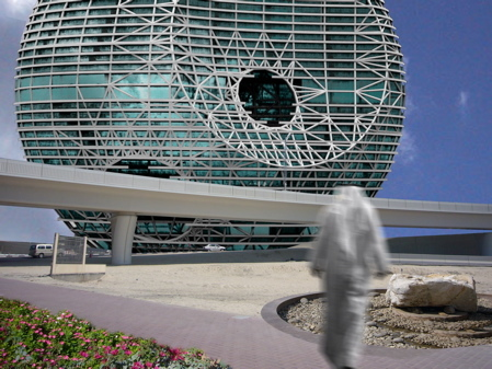 RAK Convention and Exhibition Centre, Death Star design, courtesy of Open Buildings.