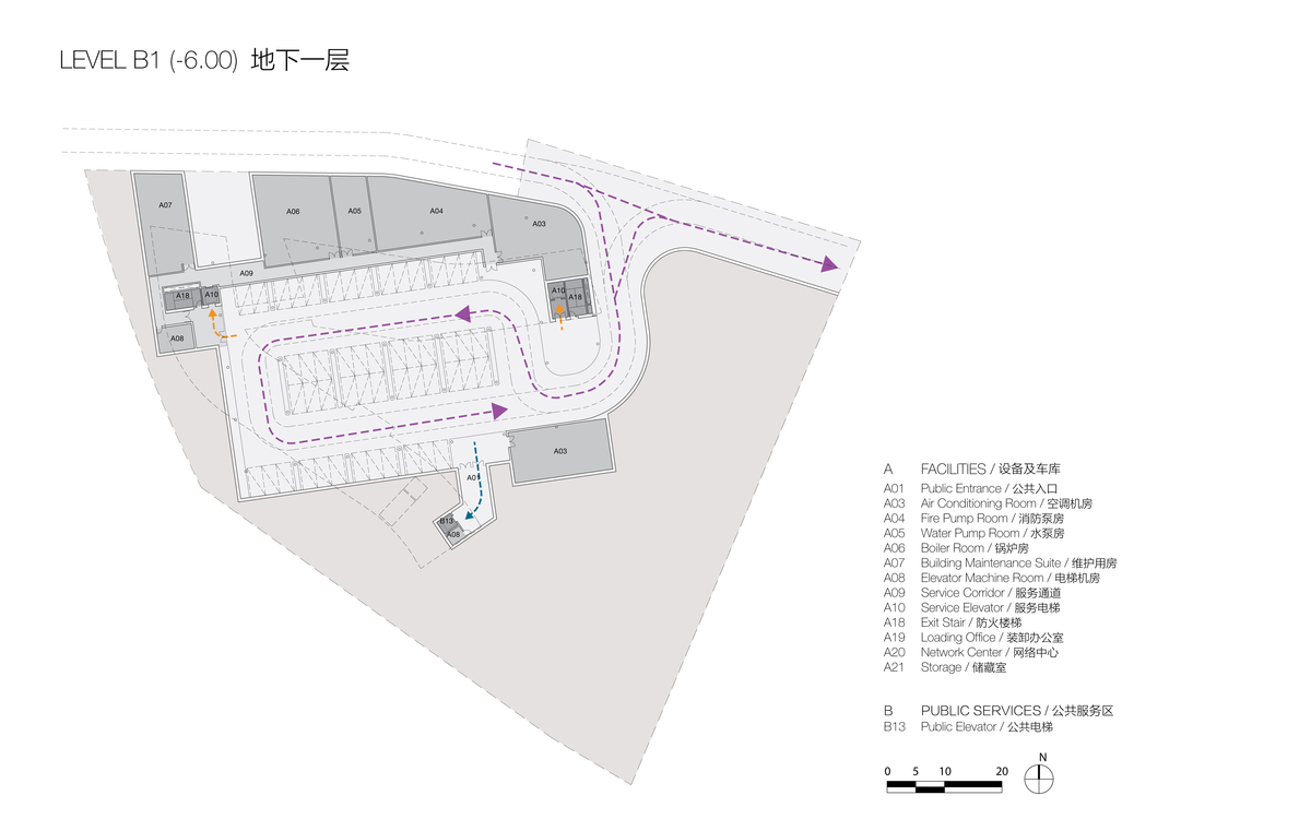 Plan at Level B1 (© Studio Link-Arc)