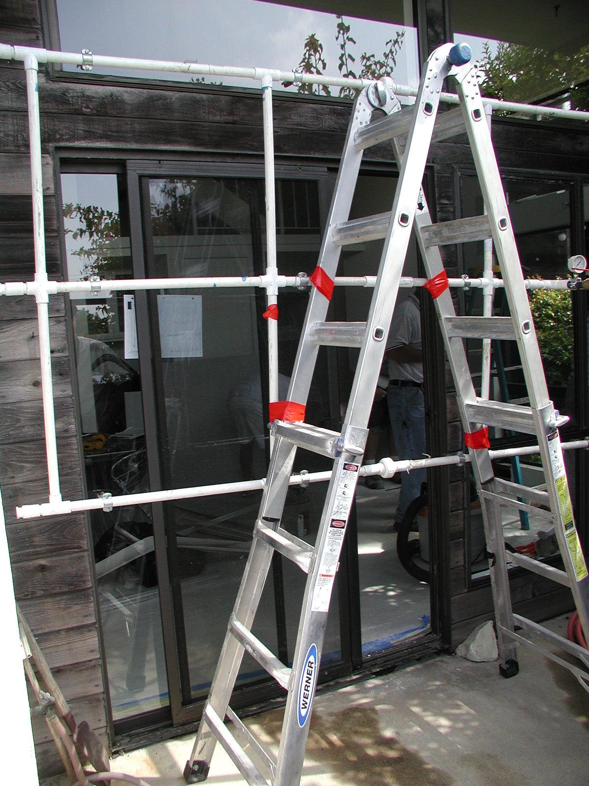 Window water-test rig.