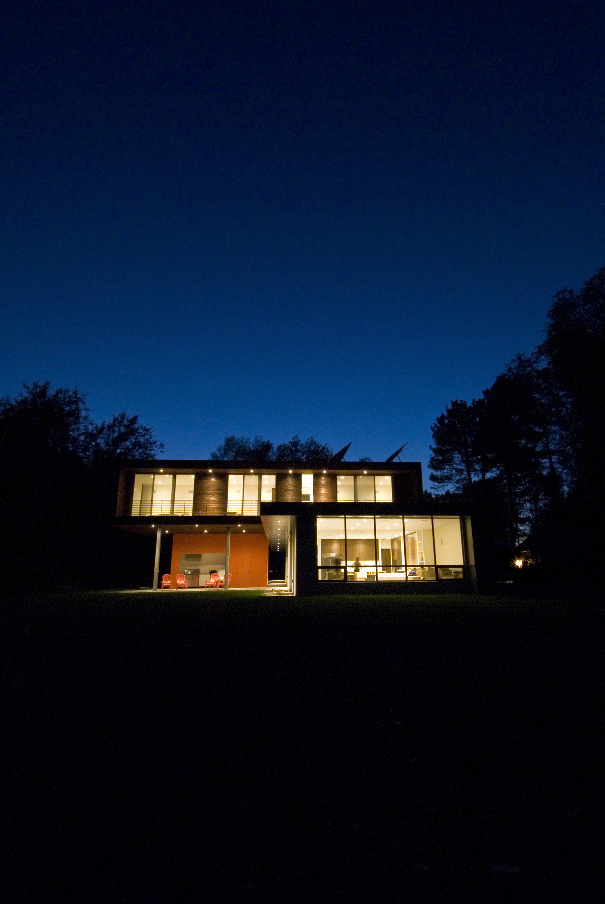 East Elevation at Night