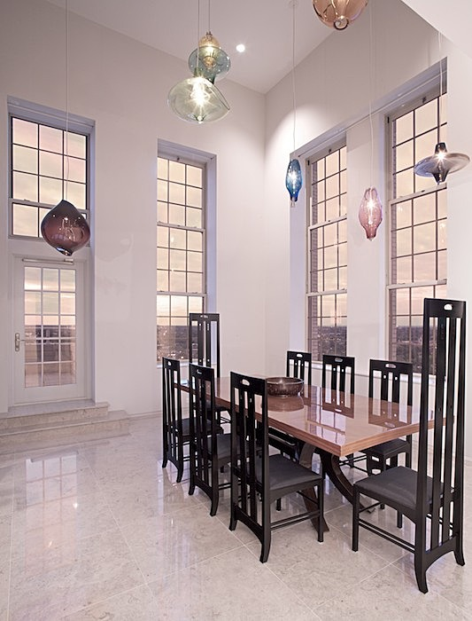 dining room - double ht space (19')