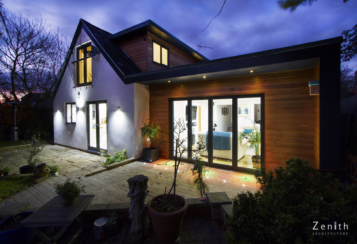 Remodeling of 1920 s bungalow oxfordshire zenith for Bungalow architects