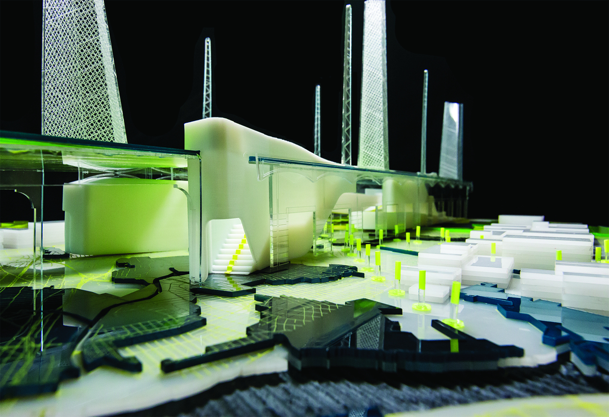 Figure 7. Model of the stair entrance to the Light Industrial Landscape. Photo by Phil Arnold, courtesy of JAE.