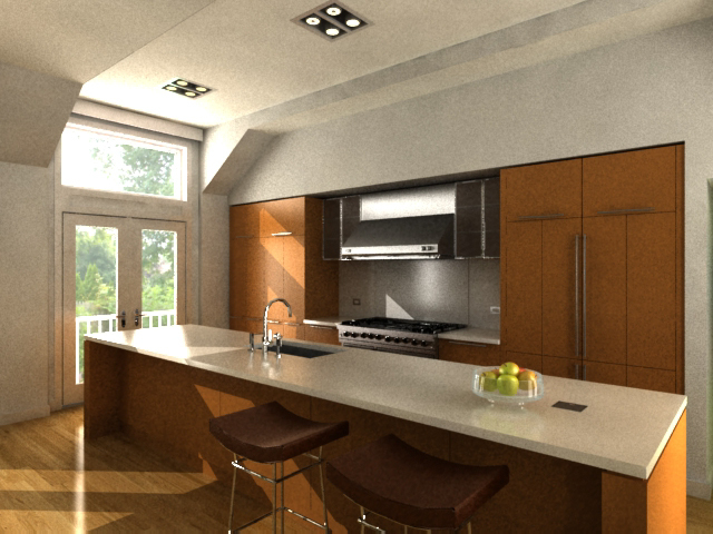 Kitchen Computer Rendering
