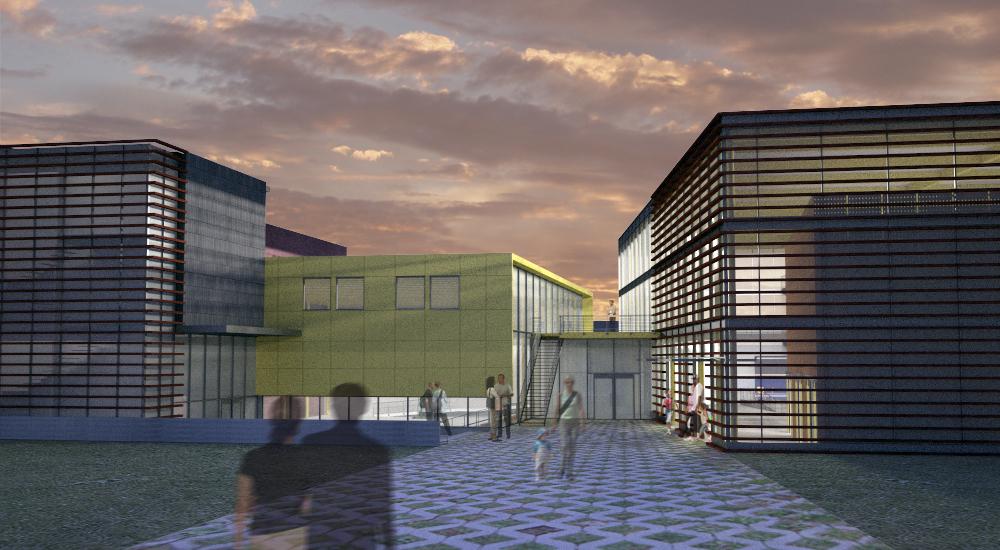 Multi-use school courtyard
