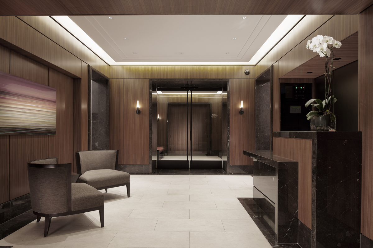 Lake shore drive lobby renovation dspace studio archinect for Interior design staffing agency chicago