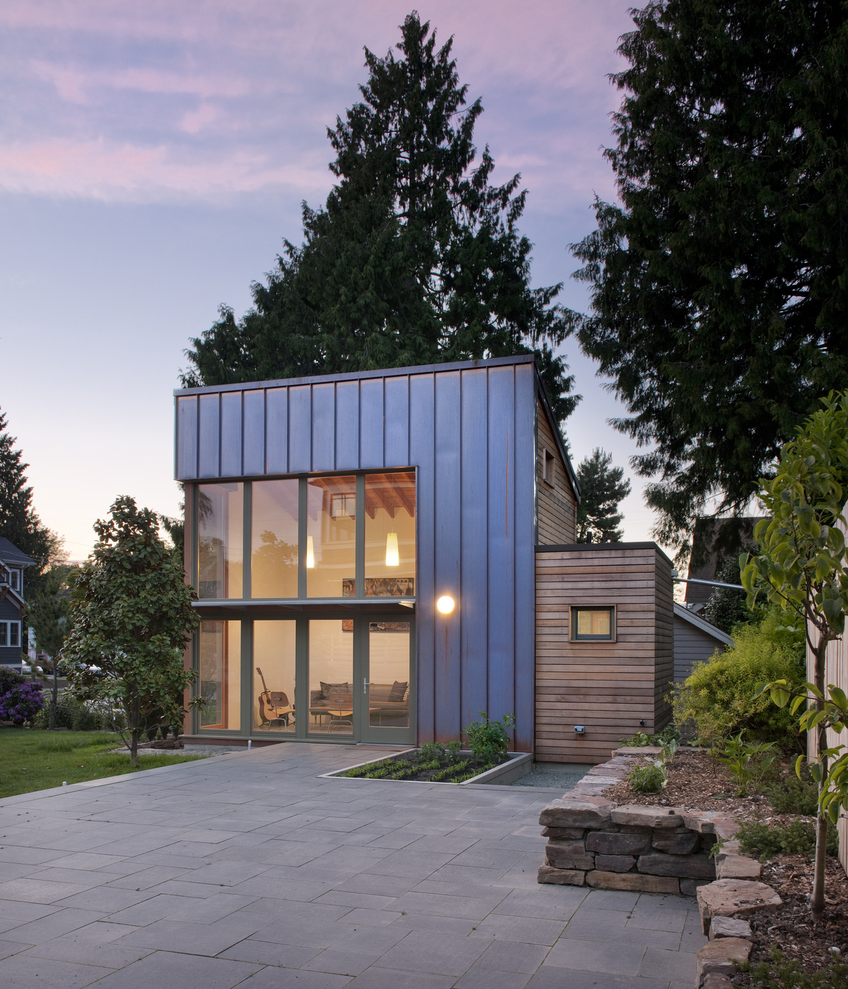 exterior patio and garden pavilion