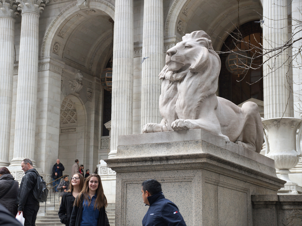 The New York Public Library Main Branch, 5th Avenue & 42nd Street in Manhattan. Copyright by Jeffrey Zeldman.
