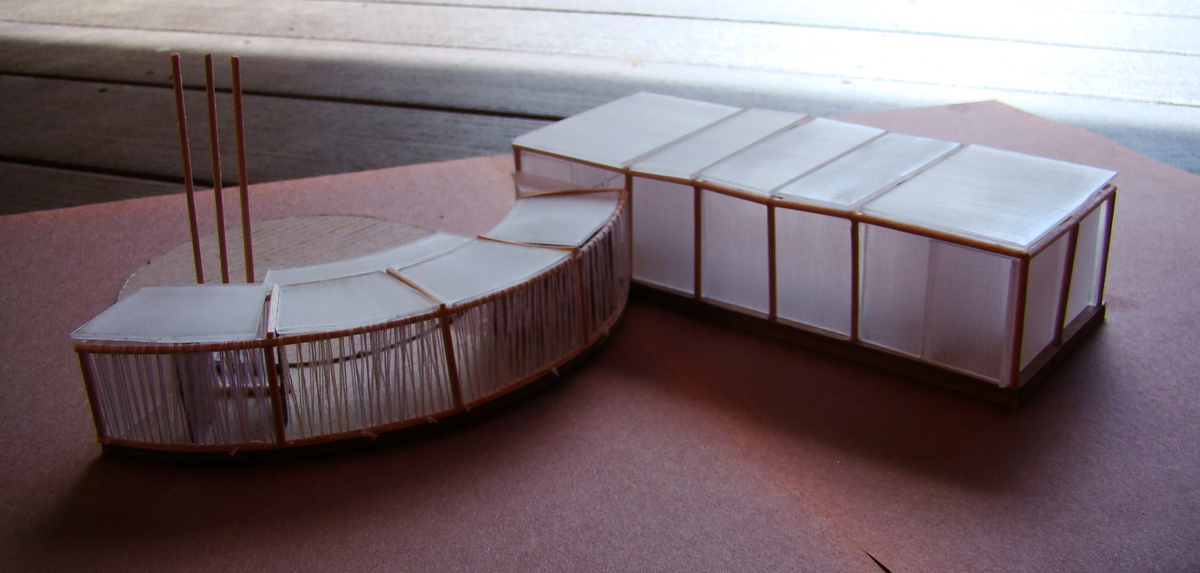 Study model, view from the back