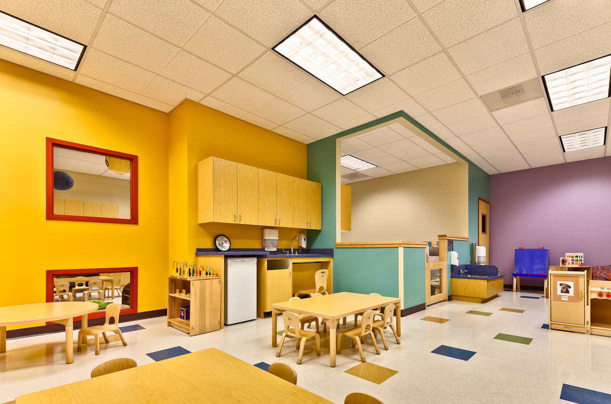 Modern Classroom Facilities ~ Ucla childcare center clay aurell archinect